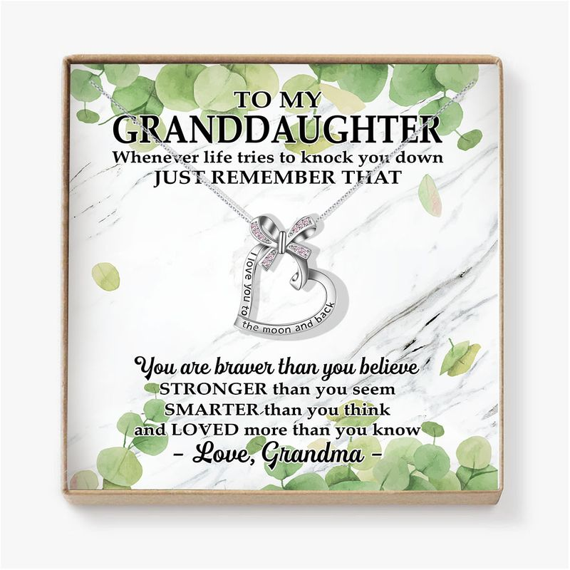 To My Granddaughter Necklace Gifts