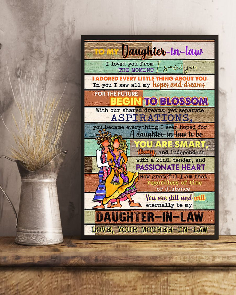 Perfect Gift For Daughter In-Law Poster