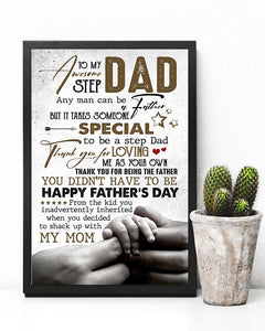 Perfect Gift For Step Dad Poster