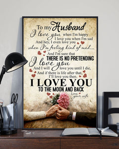 Perfect Gifts For Husband - To My Husband Poster