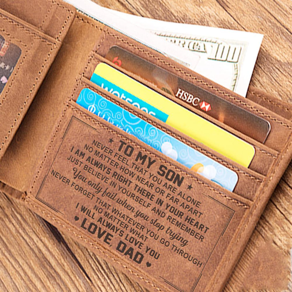 Gift for Son I Love You so from Dad Brown Wallet Birthday Gift Leathrr to My Son