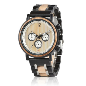 Wooden Timepieces Chronograph Quartz Watches Great Gift for Him