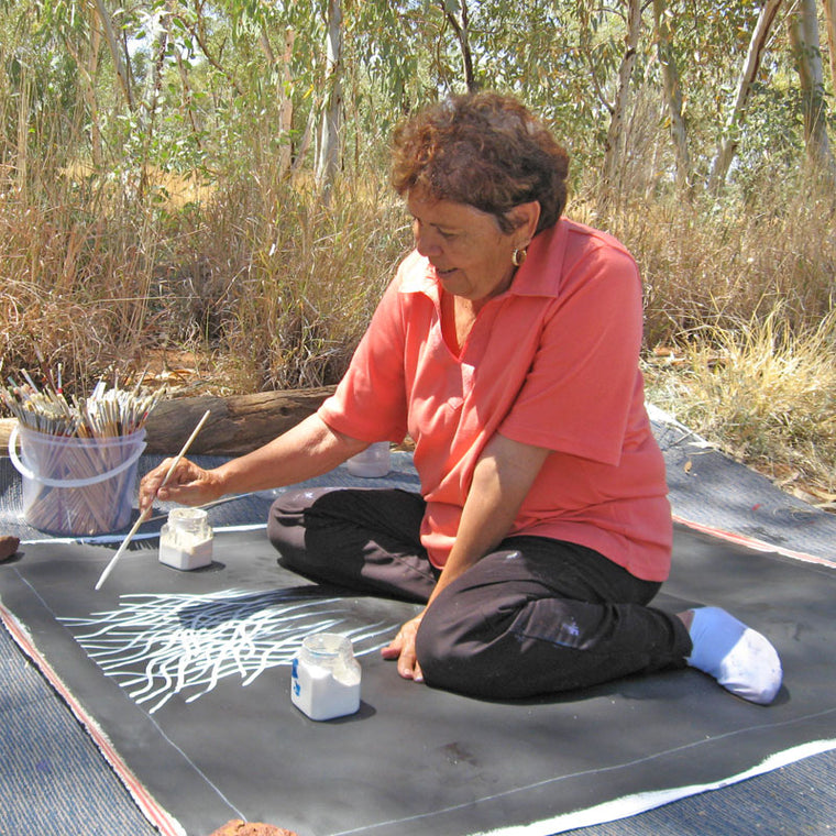 Aboriginal artist Barbara Weir, daughter of Minnie Pwerle