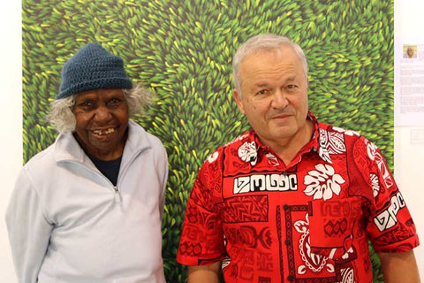 Aboriginal artist Gloria Petyarre and Werner