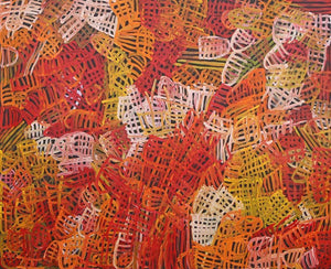 Aboriginal Art by Emily Pwerle - Boomerang Art - Emily Pwerle - #product _type#