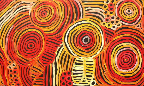 Aboriginal Art by Minnie Pwerle - Boomerang Art - Minnie Pwerle (1910-2006) - #product _type#