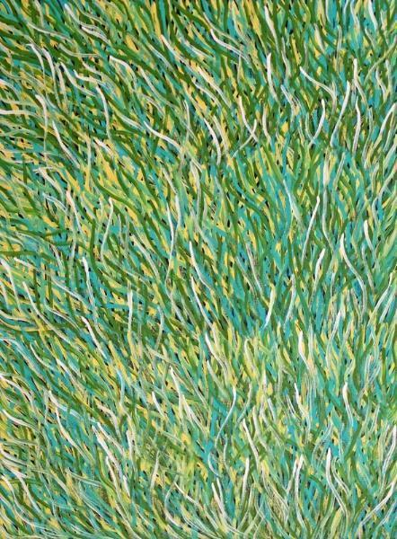 Barbara Weir - Grass Seed Dreaming - Boomerang Art - Barbara Weir - #product _type#