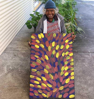 Bush Medicine Leaves - Boomerang Art - Gloria Tamerre Petyarre - #product _type#