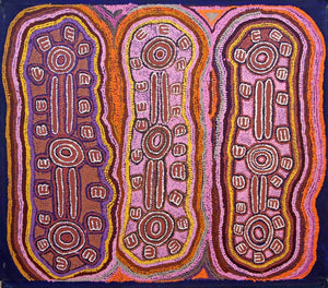 Brush-tailed PossumOriginal Aboriginal ArtJorna Nelson (1930-2011)Boomerang Art