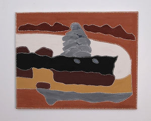 Bow River Station CountryOriginal Aboriginal ArtKathy RamsayBoomerang Art
