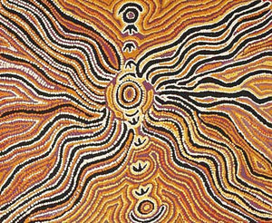 Janganpa (Brush-tail Possum Dreaming)Original Aboriginal ArtJorna Nelson (1930-2011)Boomerang Art