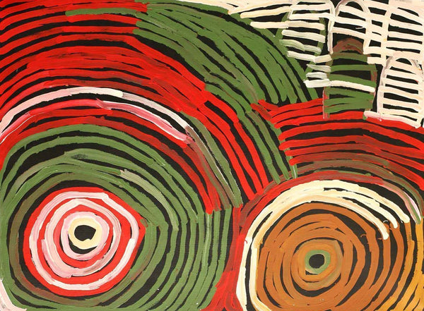 Minnie Pwerle (1910-2006) - Boomerang Art - Minnie Pwerle (1910-2006) - #product _type#