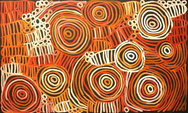 AwelyeOriginal Aboriginal PaintingMinnie Pwerle (1910-2006)Boomerang Art