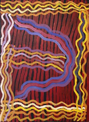 AwelyeOriginal Aboriginal PaintingMinnie Sister Molly PwerleBoomerang Art