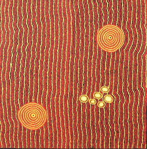 Sandy Creek - Boomerang Art - Janet Long Nakamarra - #product _type#