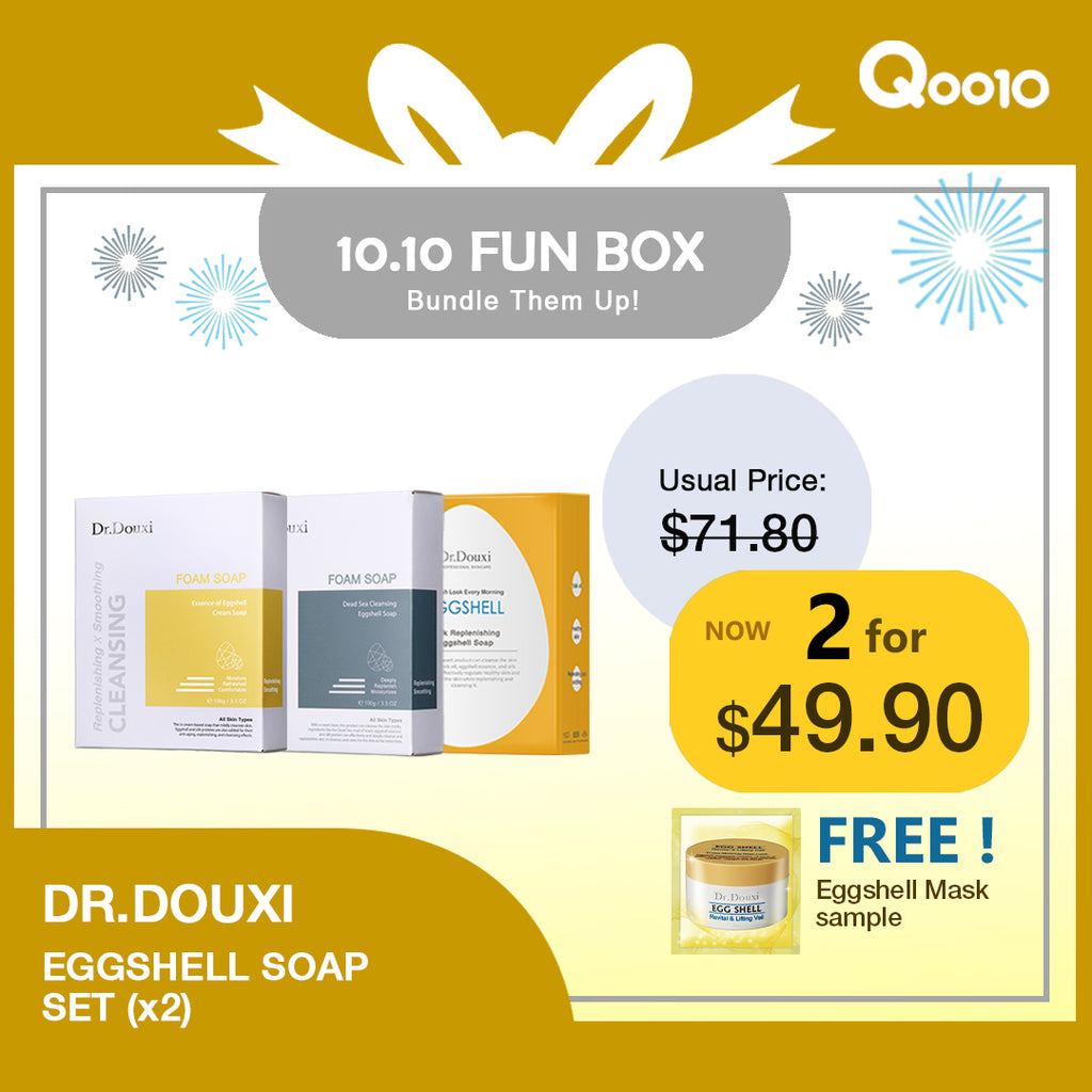 10.10 Fun Box -  Eggshell Soap Bundle Package