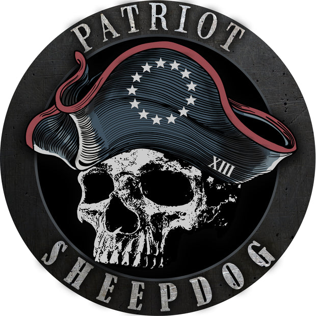 Patriot Sheepdog Signature Decal