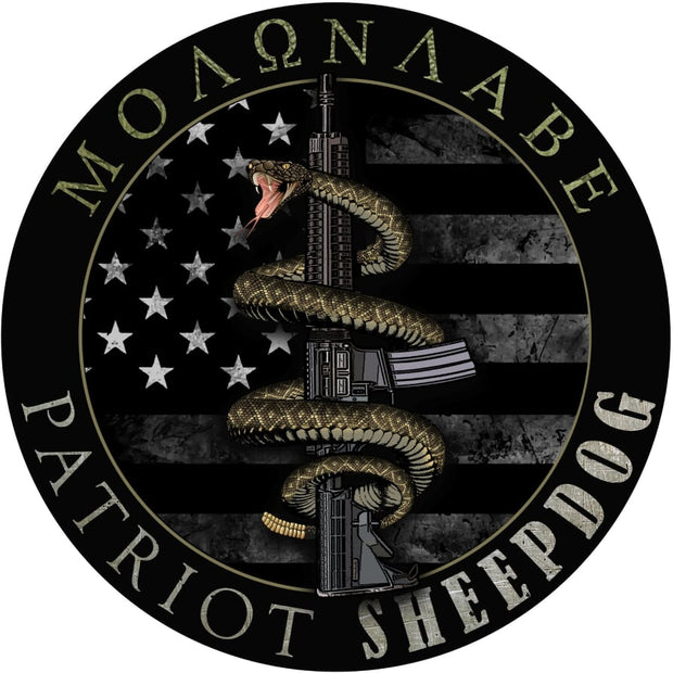 Molon Labe Patriot Sheepdog Decal