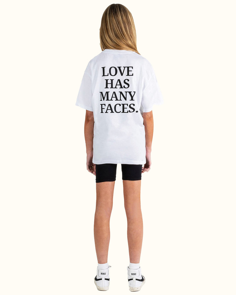 LOVE + FACES TEE WHITE - NUDE PROJECT