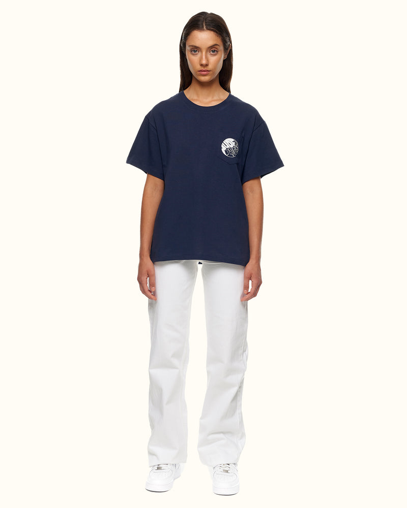 YING YANG TEE BLUE - NUDE PROJECT