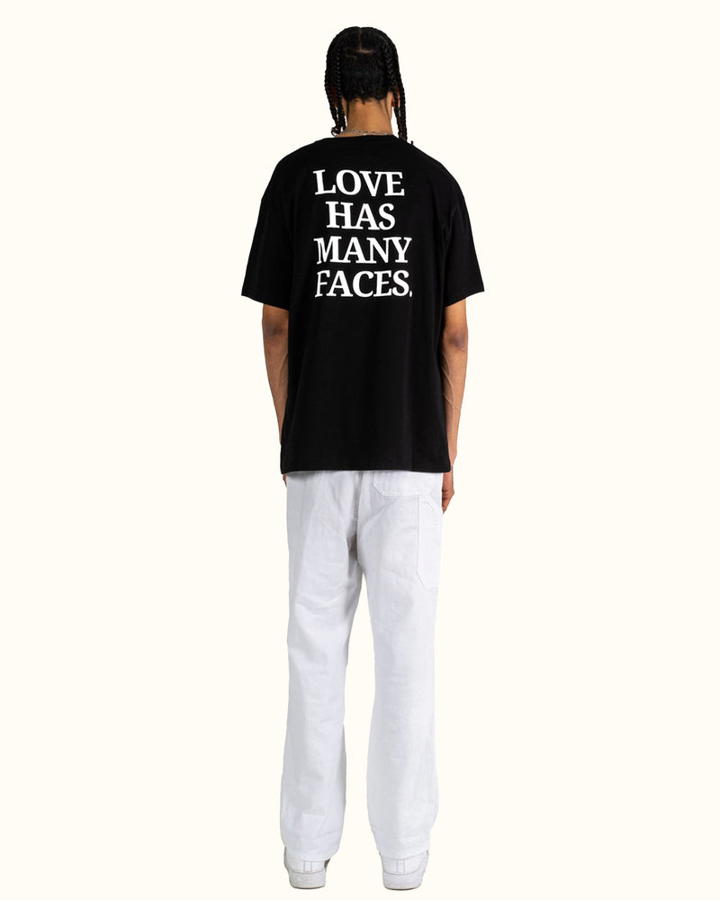LOVE + FACES TEE BLACK - NUDE PROJECT