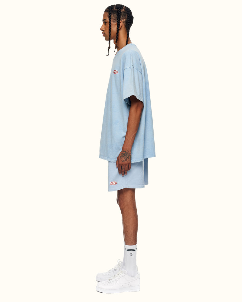 GARMENT DYED TEE BLUE - NUDE PROJECT