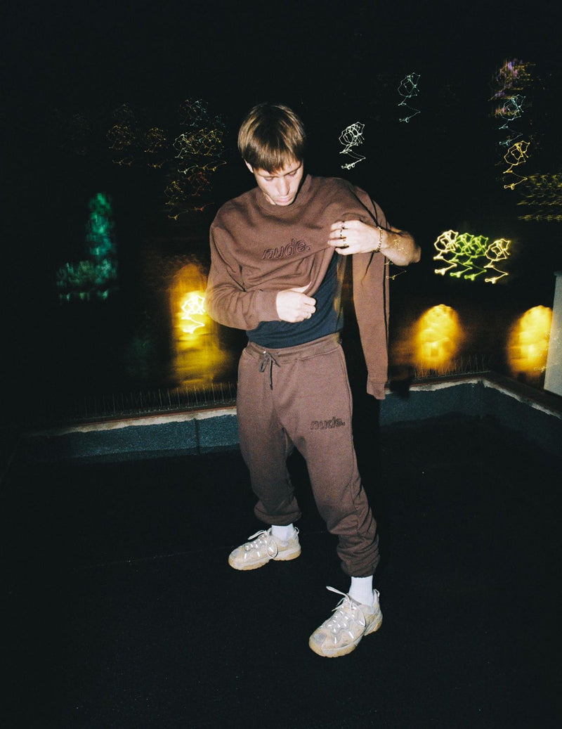 NUDE SWEATPANTS BROWN - NUDE PROJECT