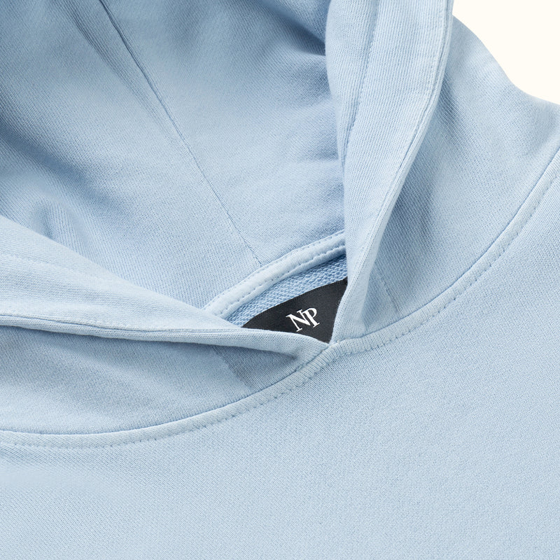 GARMENT DYED HOOD BLUE - NUDE PROJECT