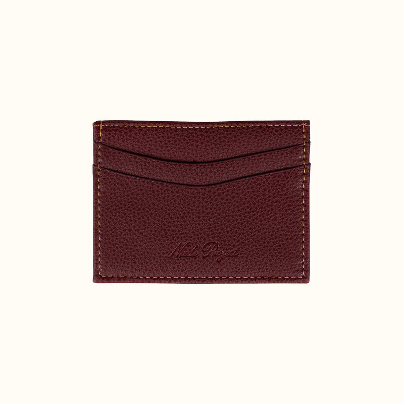 CLASSIC CARDHOLDER BURGUNDY - NUDE PROJECT