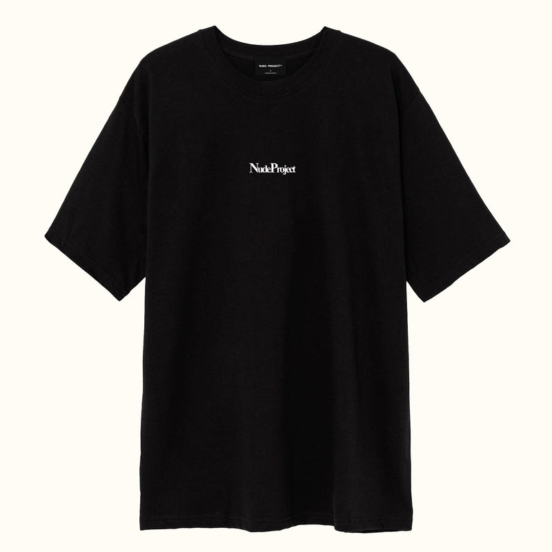 WELCOME TEE BLACK - NUDE PROJECT