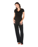 Maternity/Nursing Nightwear Pajama Lounge Set Black