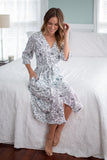 Ella Delivery Robe & Maternity Nursing Nightgown