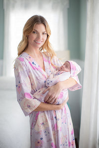 Anais Delivery Robe & Matching Baby Gown Set