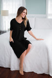 Black Endless Mama Every Day Maternity/Nursing Lounge Dress