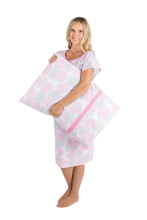 Lilly Patient Hospital Gown Gownie & Matching Pillowcase Set