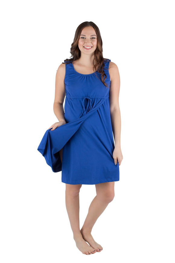 Sapphire Blue 3 in 1 Maternity/ Labor & Delivery / Nursing Gown