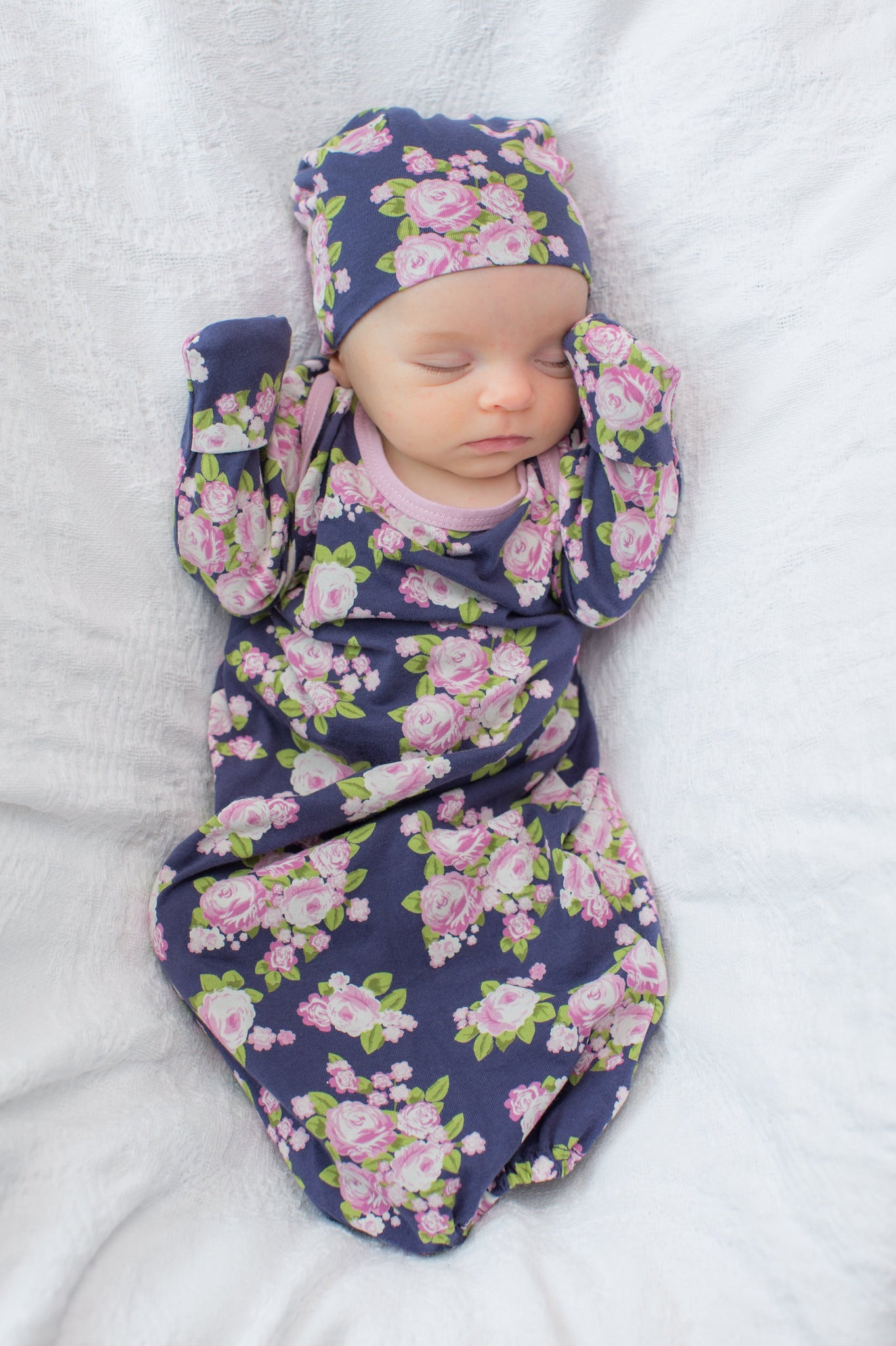Eve Floral Maternity Nursing Nightgown & Delivery Robe & Baby Going ...