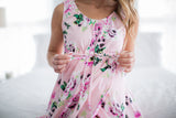 Amelia Floral Labor & Delivery Birthing Gown
