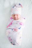 Anais Delivery Robe & Matching Swaddle Blanket & Hat