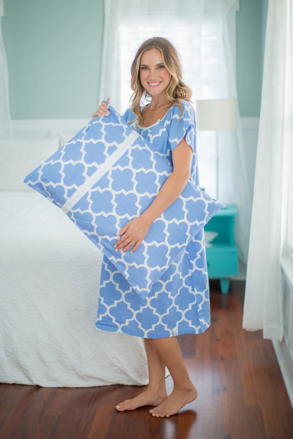 Marin Patient Gown & Pillowcase Set