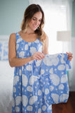Zoe Maternity Nursing Nightgown & Matching Baby Gown Set