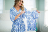 Marin Maternity/Nursing Nightgown, Delivery Robe & Baby Receiving Gown Set