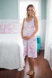 Anais 2 in 1 Maternity Nursing Sleeveless Nightgown