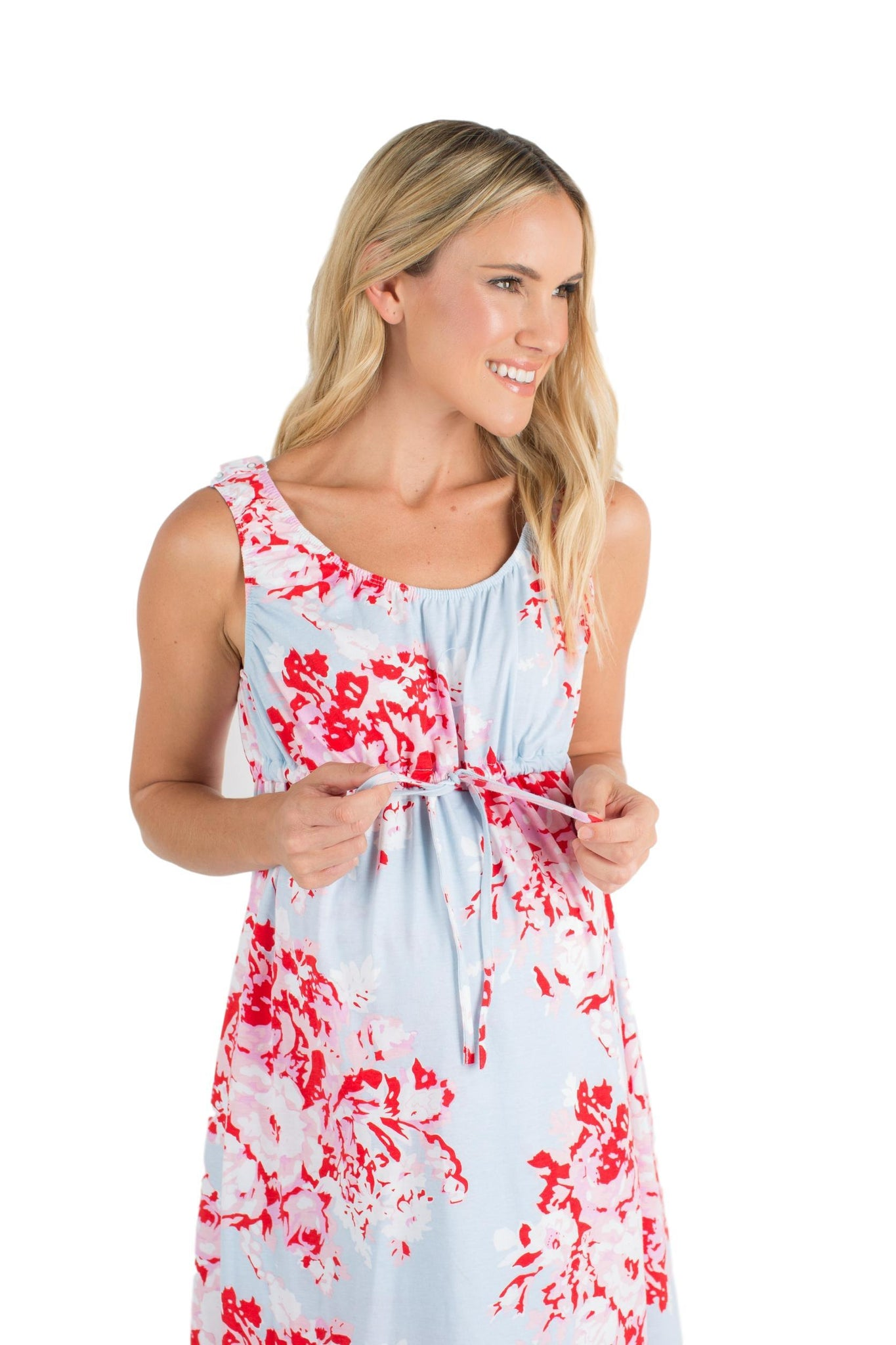 c31bdbc9e5 ... Mae Floral 3 in 1 Maternity Labor Delivery Nursing Hospital Birthing  Gown   Matching ...