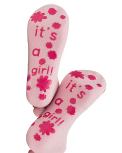 It's a girl! Labor and Push Socks