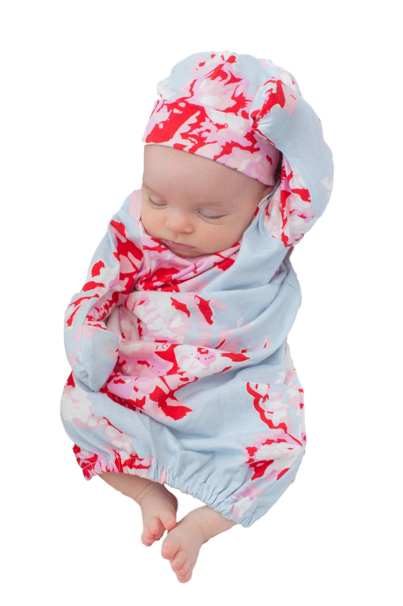d7b4a11affbe6 ... Mae Floral 3 in 1 Maternity Labor Delivery Nursing Gown & Matching  Newborn Romper Set