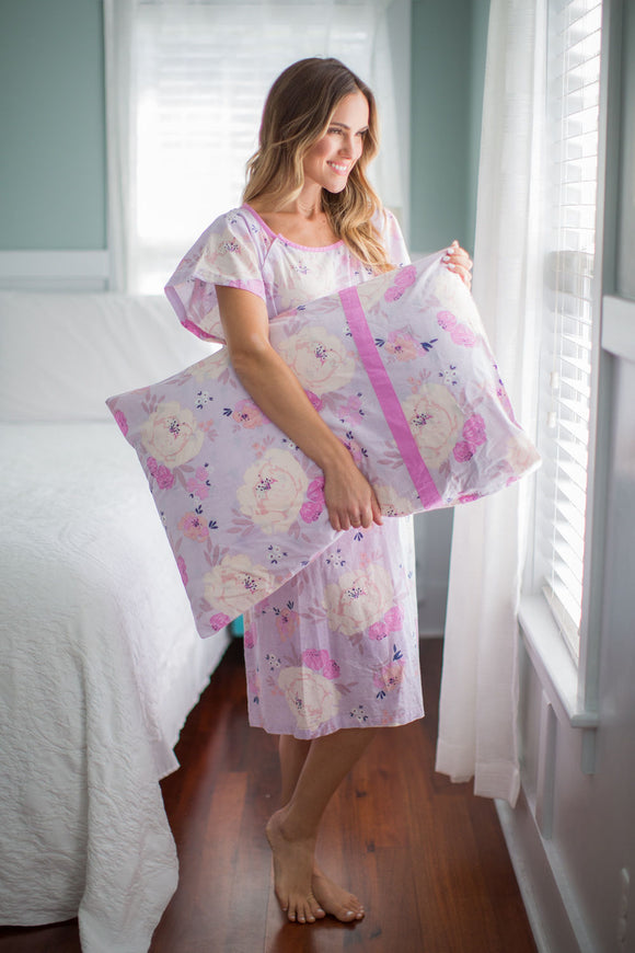 Anais Delivery Gownie & Matching Pillowcase Set