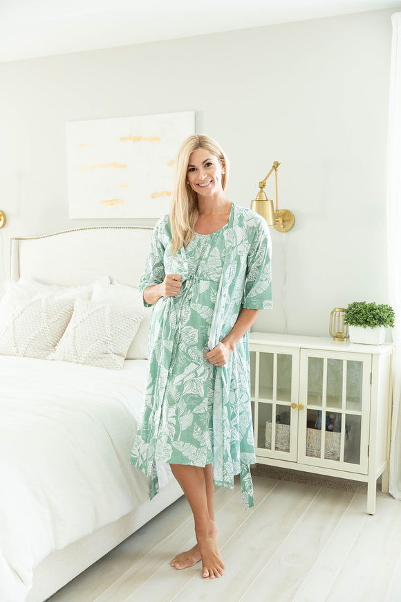 Marie Robe & Labor Gown Set
