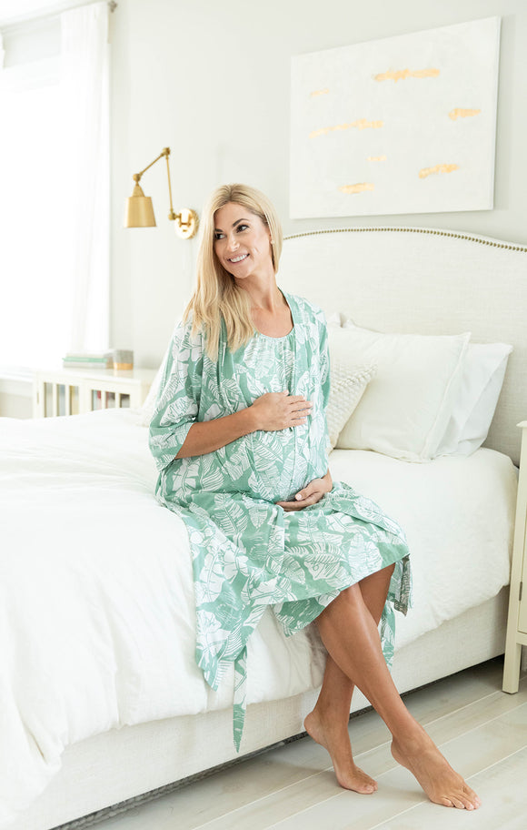 Marie Robe & Maternity Nursing Nightgown