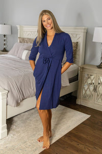 Navy Post Surgery Recovery Robe